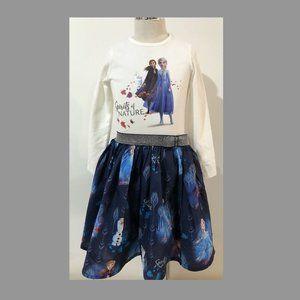 New Disney Frozen Organic Cotton three layer dress